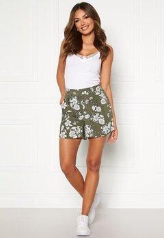 Happy Holly Thea shorts Khaki green / Patterned Bubbleroom.se
