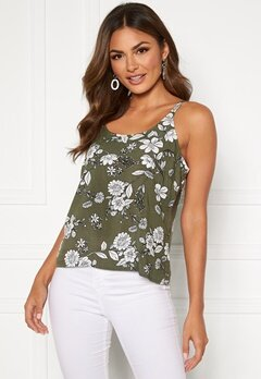 Happy Holly Thea singlet Khaki green / Patterned Bubbleroom.se