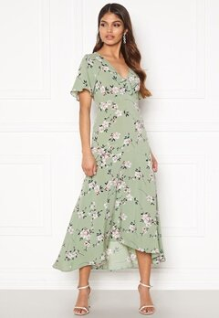Happy Holly Therese dress Dusty green / Floral Bubbleroom.se