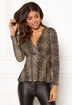 Happy Holly Therese top Leopard Bubbleroom.se