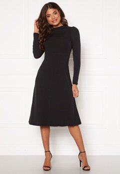 Happy Holly Tilda puffsleeve dress Black Bubbleroom.se