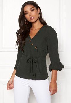 Happy Holly Tilly blouse Khaki green Bubbleroom.se