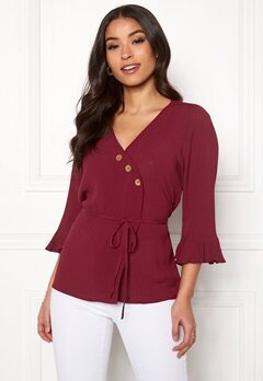 Happy Holly Tilly blouse Brick-red Bubbleroom.se