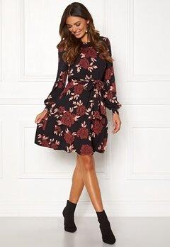 Happy Holly Tova dress Black / Patterned Bubbleroom.se