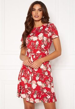 Happy Holly Tova ss dress Red / Patterned Bubbleroom.se