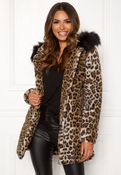 Happy Holly Trinny coat Leopard Bubbleroom.se