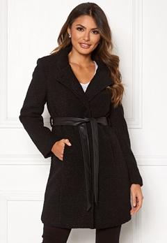 Happy Holly Tuva wool coat Black Bubbleroom.se