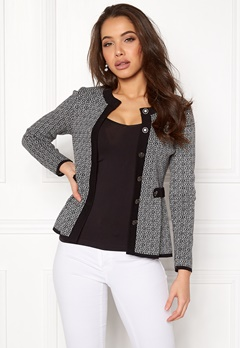 Happy Holly Tyra cardigan Black / Offwhite Bubbleroom.se