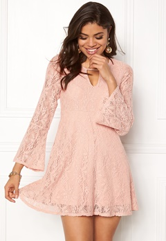 Happy Holly Vanessa lace dress Dusty pink Bubbleroom.fi