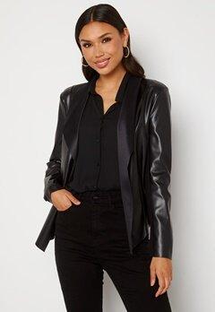 Happy Holly Vera PU jacket Black Bubbleroom.se