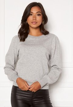 Happy Holly Veronica puff top Light grey melange Bubbleroom.se