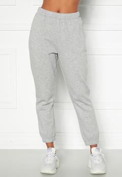 Happy Holly Veronica sweat pants Light grey melange Bubbleroom.se