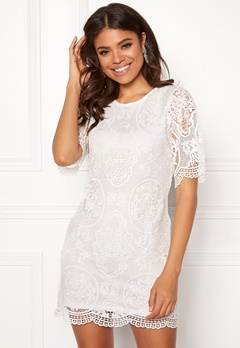 Happy Holly Vickan lace dress White Bubbleroom.se