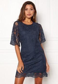 Happy Holly Vicky lace dress Dark blue Bubbleroom.se