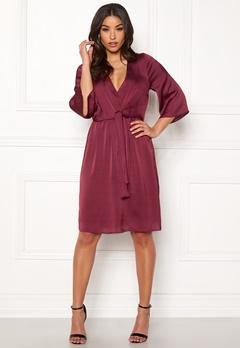 Happy Holly Victoria occasion dress Wine-red Bubbleroom.se