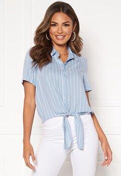 Happy Holly Vilma knot shirt Light blue / Striped Bubbleroom.se