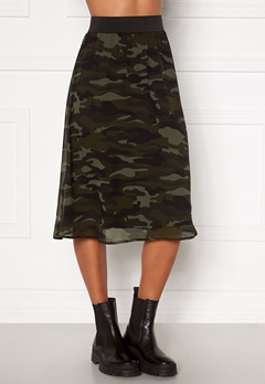 Happy Holly Zoey asymmetric skirt  Camouflage Bubbleroom.se