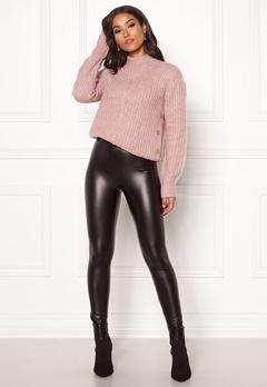 Happy Holly Andrea coated leggings Black Bubbleroom.se