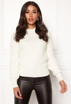 Happy Holly Mathilda bubble sweater Offwhite Bubbleroom.se