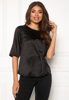 Happy Holly Pamela satin top Black Bubbleroom.se