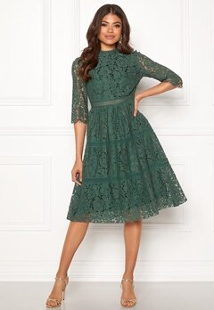 Happy Holly Madison lace dress Dusty green Bubbleroom.se