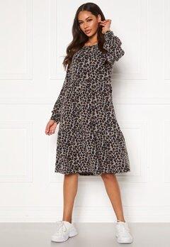 Happy Holly Liz flounce dress Leopard Bubbleroom.se