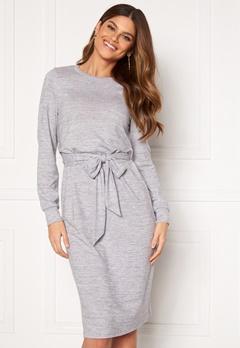 Happy Holly Beatrix midi dress Grey melange Bubbleroom.se