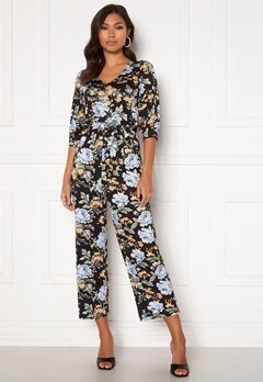 Happy Holly Tova puff v-neck jumpsuit Floral Bubbleroom.se