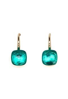 SNÖ of Sweden Hatt Earrings Gold/Light Petrol Bubbleroom.se