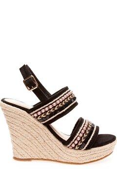 Have2have Sandaletter med kilklackar, Sandy Svart Bubbleroom.se