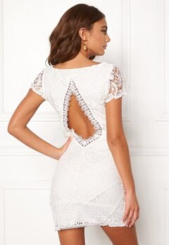 DRY LAKE Heart Dress White Lace Bubbleroom.se