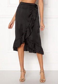 VERO MODA Henna Shine Wrap Skirt Black Bubbleroom.fi