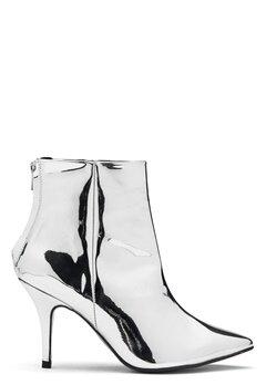 Henry Kole Zoe Leather Boots Silver Bubbleroom.se