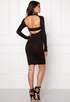 Club L High Neck Open Back Black Bubbleroom.se