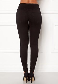 Pieces High Shape-Up Jeggings Black Bubbleroom.se