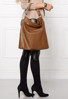Mixed from Italy Hobo Leather Bag Dark Beige/Taupe Bubbleroom.se