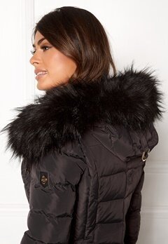 Hollies Collar Hoodedge Fake Fur Blk Bubbleroom.se