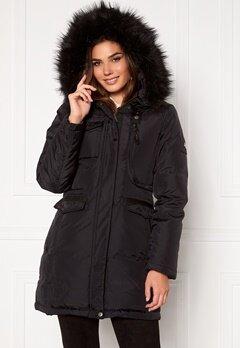 Hollies Livigno Long Coat Black/Black bubbleroom.se