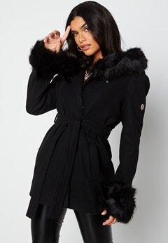 Hollies Olivia Coat Black/Black bubbleroom.se
