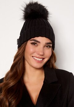 Hollies PomPom Classic Hat Black/Black Bubbleroom.se