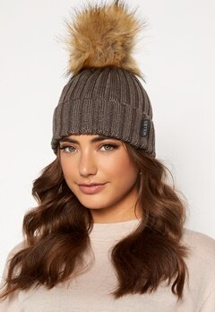 Hollies PomPom Classic Hat Taupe/Natural bubbleroom.se