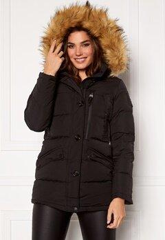 Hollies Wilma Long Jacket Black/Natural Bubbleroom.se