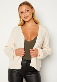 ICHI Amara Knit Cardigan 133801 Crystal Gray Bubbleroom.se