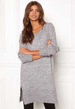 ICHI Amara Long LS Dress Grey Melange Bubbleroom.se