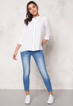 ICHI Circle Shirt 10100 White Bubbleroom.no