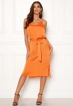ICHI Crissy Dress 17667 Russet Orange Bubbleroom.se