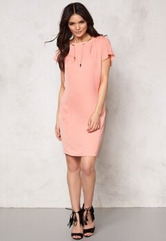 ICHI Fay Dress 16015 Coral Haze Bubbleroom.se