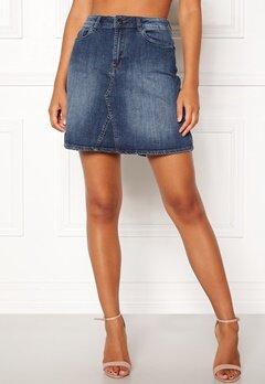 ICHI Gezar Skirt 19058 Mid Blue Bubbleroom.se