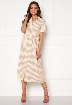 ICHI Gry Dress Natural Striped Bubbleroom.se