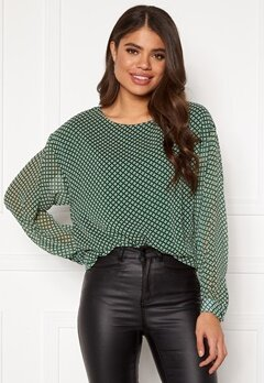 ICHI Ilona LS Dark Green Bubbleroom.se